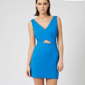 TopShop Scalloped Edge Dress Cut out